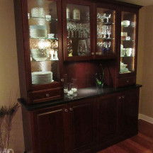 Custom Interiors Glass Cabinetry